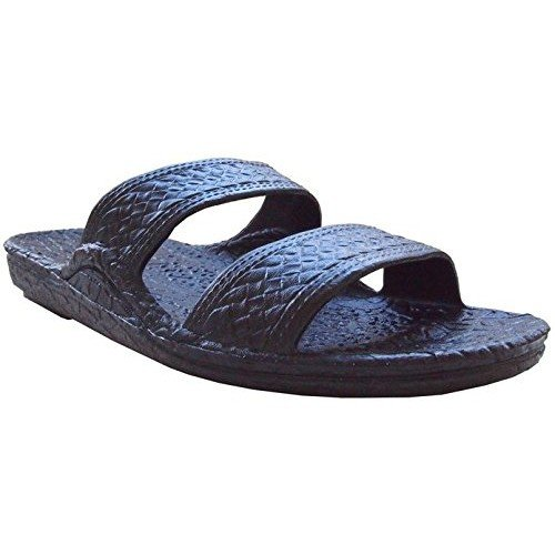 (Pali Hawaii Unisex Adult Classic Jandal Sandal (Black,)