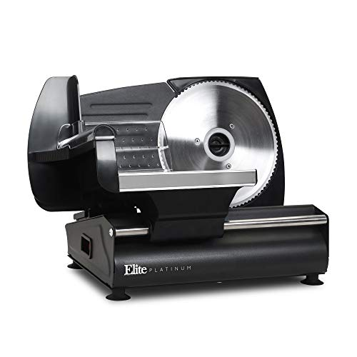 Elite Platinum EMT-625B Ultimate Precision Electric Deli Food Meat Slicer Removable Stainless Steel Blade, Adjustable Thickness, Ideal for Cold Cuts, Hard Cheese, Vegetables & Bread, 7.5'', Black by Elite Platinum (Image #7)