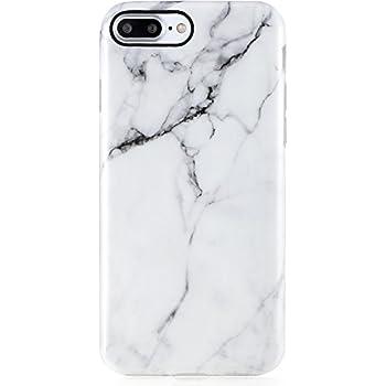 iPhone 8 Plus Case,White iPhone 7 Plus Case Marble Design,VIVIBIN Shock Absorption Matte TPU Soft Rubber Silicone Cover Phone Case for iPhone 7 Plus/ 8 Plus 5.5inch