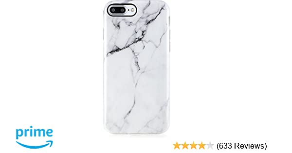 cee9ba6839 iPhone 7 Plus Case Marble, iPhone 8 Plus Case,VIVIBIN Cute White Marble for  Men Women Girls,Clear Bumper Soft Silicone Rubber Matte TPU Best Protective  ...