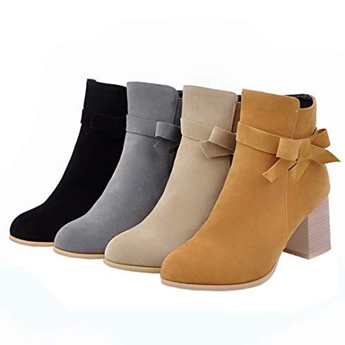 AIYOUMEI Boot AIYOUMEI Classic Women's Grey Women's 5Iq7ZxH