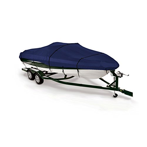 (SavvyCraft Pro Style Bass Fishing O/B Trailerable Boat Cover 17'6