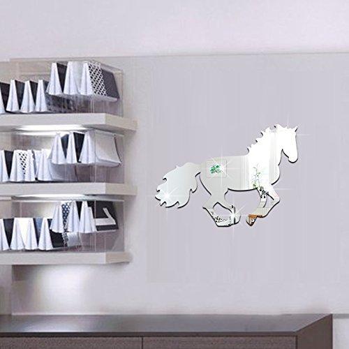 Kids Acrylic Mirror Horse Kids Room Decal Art Mural Wallpaper Wall Decal Wall Sticker