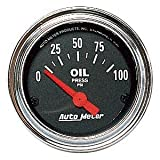 Auto Meter 2522 Traditional Chrome Electric Oil Pressure Gauge