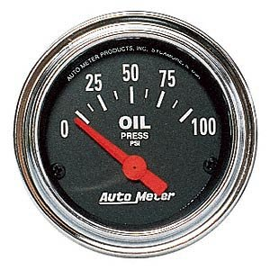 - Auto Meter 2522 Traditional Chrome Electric Oil Pressure Gauge