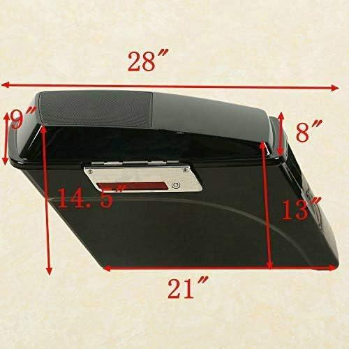 TCT-MT Hard Saddlebags w// 6x9 Speaker Lids /&Conversion Bracket For Harley Softail FLSTF 1994-2013 Deluxe Classic FLSTC Vivid Black 2012