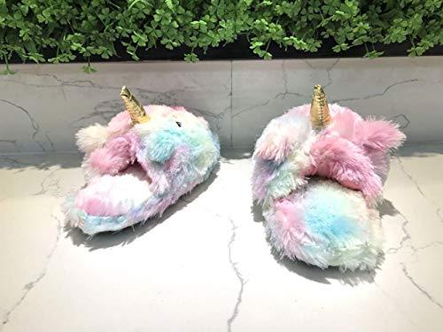 Pantofole 35 Pavimento colored colored Colorate Peluche Multi Rimorchio Hong Domestico Jia Donne 35 E 42 multi Di 42 Uomini Cotone Calde Antiscivolo 5RngwqSx