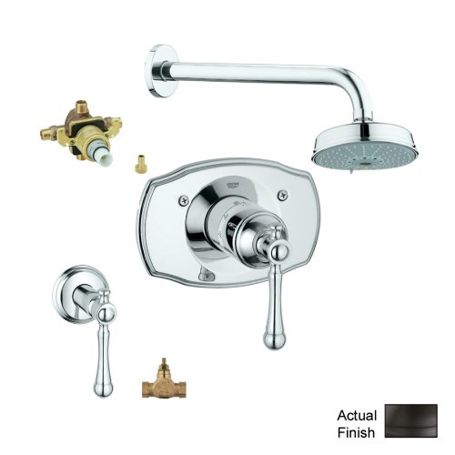 Grohe KS19327-34331RV3-ZB0 Bridgeford Shower Valve Kit, Oil Rubbed Bronze