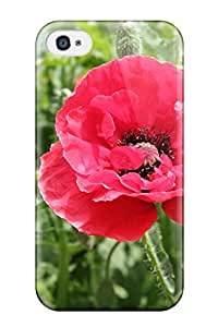 New Farah Wareh Super Strong Poppy Flower Tpu Case Cover For Iphone 4/4s