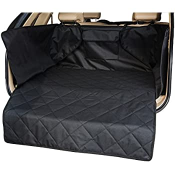 """INNX Quilted Waterproof Pets Dog Cargo Liner Cover Heavy Duty Non Slip Canine Cargo Cover for SUV Standard Size 41""""Wx52""""Lx17.7""""H … (Standard Size, Black)"""