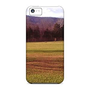 LJF phone case New iphone 6 4.7 inch Case Cover Casing(green Fields Blue Mountains)