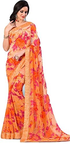 Jay Sarees Most Beautiful Georgette Designer Saree with unstitched blouse -v9551 by JAY SAREES