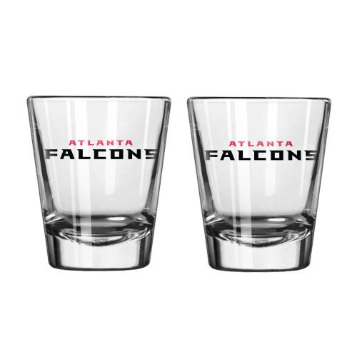NFL Football Team Logo Satin Etch 2 oz. Shot Glasses | Collectible Shooter Glasses - Set of 2 - Team Logo Shot Glass