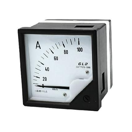 eDealMax 80mm x 80mm Square Panel AC 100A Amplificador Meter Amperímetro Pointer - - Amazon.com
