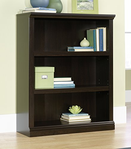 Sauder 410373 3-Shelf Bookcase, L 35.28 x W 13.23 x H 43.78 , Jamocha Wood finish