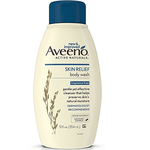 - Aveeno Skin Relief Fragrance-Free Body Wash with Oat to Soothe Dry Itchy Skin, Gentle, Soap-Free & Dye-Free for Sensitive Skin, 12 fl. oz