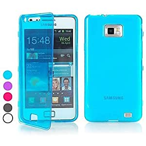 QJYB BIG D Touch View TPU Full Body Case for Samsung Galaxy S2 I9100(Assorted Colors) , Purple