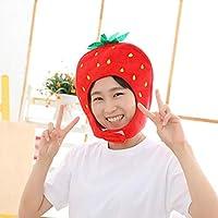 Funda para cabeza de peluche, diseño de fresa de frutas y sombrero ...
