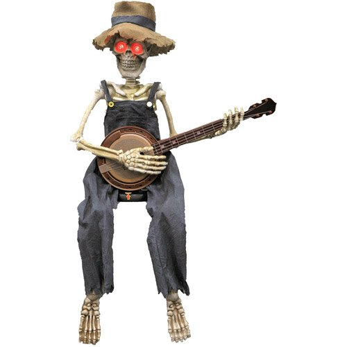 Skeleton Playing Banjo Halloween Accessory ()