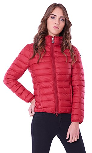 donna donna L Piumino Rosso con rosso Taglia 4431331 cappuccio Invicta r85Yqr