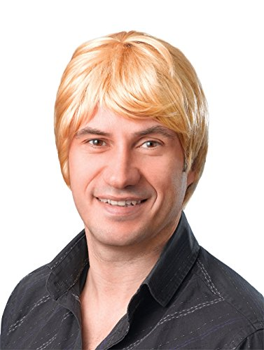 Bristol Novelty BW069 Short Blonde Male Wig, One Size