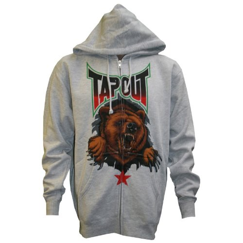 (One Punch TapouT Republic Charcoal Full Zip Hooded Sweatshirt X-Large)