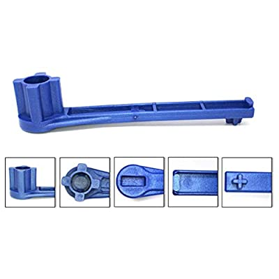 JSP Manufacturing 1 Pack Blue Gas and Bung Wrench Non Sparking Solid Drum Bung Nut Wrench: Automotive