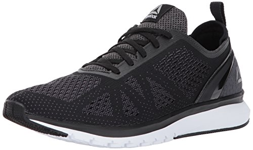 Reebok Men's Print Smooth Clip ULTK Running Shoe, Black/ash Grey/Coal/White/Pewter, 10 M US