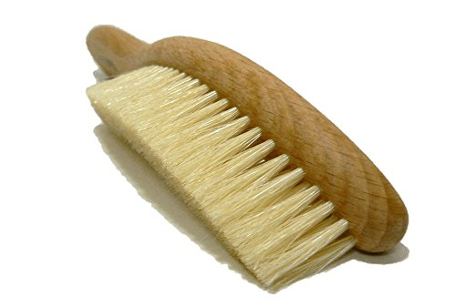 Valentino Garemi Traditional Hat Cleaning Brush   Remove Dust, Dry Stains, Rain Spots, Sweat Marks, Pet or Human Hair   Genuine Boar Hair Made in Germany (White Bristles) ()