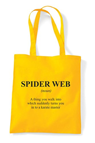 Not The Yellow In Funny Alternative Definition Dictionary Spider Tote Shopper Bag Web Iwx4OFwY