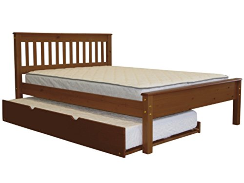 - Bedz King Mission Style Full Bed with a Twin Trundle, Espresso