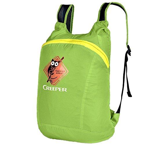 LIGHTING borsa leggera spalla / pieghevole sacchetto di sollevamento di alpinismo / piccolo cavallo zaino / borsa di pelle verde-20L