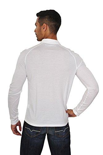 Kangra Polo Poloshirt Herren Weiß Regular Fit Baumwolle Casual 50