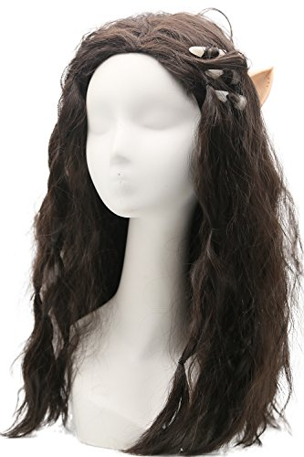 Garona Wig Movie Cosplay Costume Brown Long wavy Curly Wigs Hair Accessories Halloween Party -