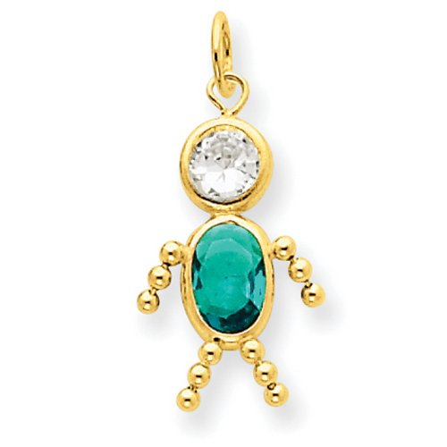 IceCarats® Designer Jewelry 14K December Boy Birthstone Charm