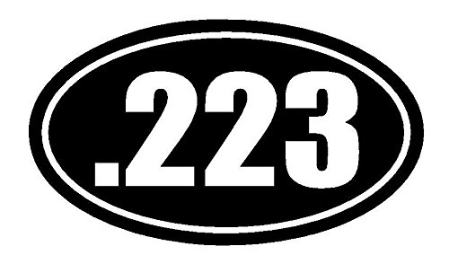 223-Oval-PREMIUM-Decal-5-inch-WHITE-223-M16-AR15-Seven-Eleven-Sig-Glock-Rifle-Patriot-Military-Hunting-Sniper-Firearm-car-truck-van-laptop-macbook-bumper-sticker