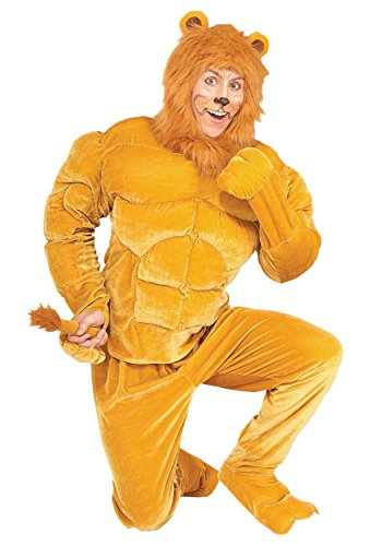 [Macho Cowardly Lion Costume Small] (Cowardly Lion Costumes For Adults)