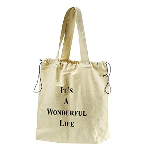 It'S A Wonderful Life Canvas Drawstring Beach Tote Bag