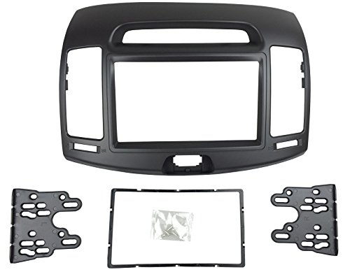 DKMUS Car Stereo Dash Radio Fascia Kit For 2006-2010 Hyundai Elantra (HD), Avante (HD) 2006-2010 Installation Trim Panel Frame Double Din (Black)