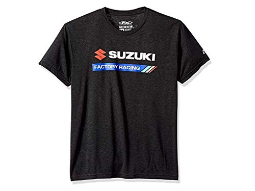 Suzuki Team Shirt - Suzuki Factory FX Racing Team T-Shirt Adult Mens Black Medium