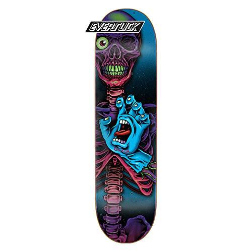 Santa Cruz Skateboard Deck Hand Crew Braun Everslick 8.25