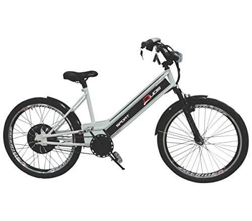 Bicicleta Elétrica 800W 48V 15Ah Sport Prata