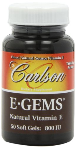 Carlson E Gems Natural Vitamin Softgels product image
