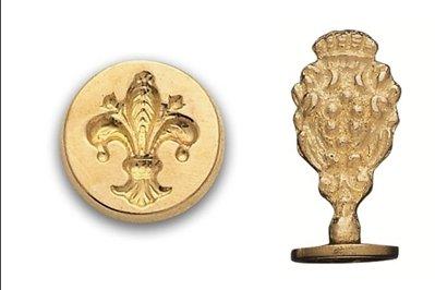 (Brass Wax Seal Stamp-Fleur De)