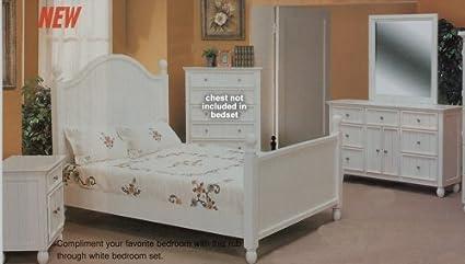 Amazon.com - La Provence Girls White Cottage Full Size Bed ...