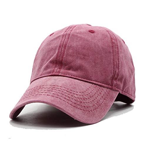 - WEEKEND SHOP Snapback Caps Men Baseball Cap Hats for Men Casquette Plain Bone Gorras Cotton Washed Blank Vintage Baseball Caps Sun Hat Wine red