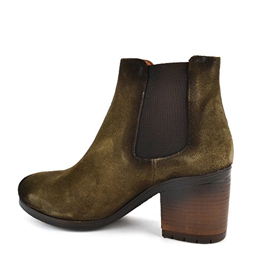 Kanna Gois Moss Green Suede Ankle Boot Leccio p9f2Z8K
