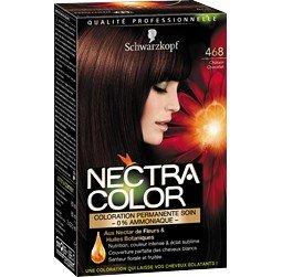 schwarzkopf nectra color 468 chtain chocolat coloration permanente soin la bote de 165ml - Schwarzkopf Coloration