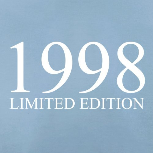 1998 Limierte Auflage / Limited Edition - 19. Geburtstag - Herren T-Shirt - Himmelblau - XS