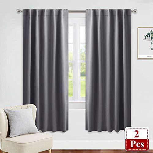 PONY DANCE Grey Window Curtains - 42